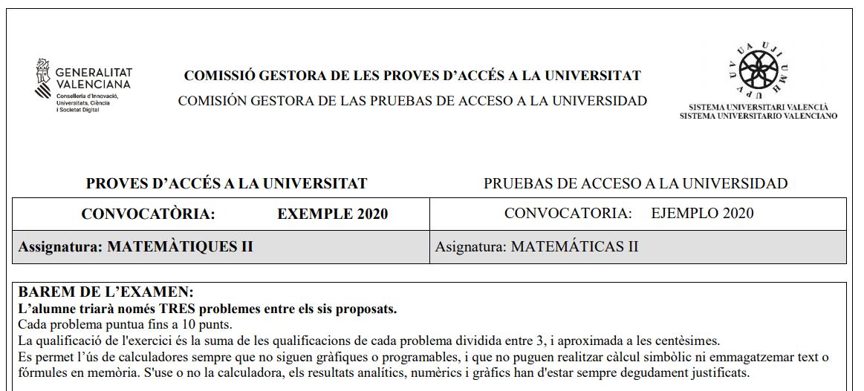 calculadoras permitidas en selectividad comunidad valenciana