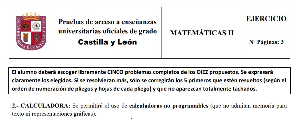 calculadoras permitidas en selectividad castilla y leon